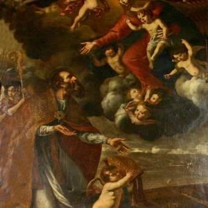 Giovan Battista Quagliata – La vergine appare a San Paolino , Chiesa di S.Rita in San Paolino, Messina